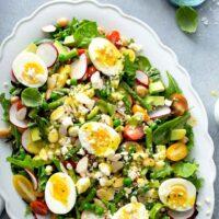 Spring Salad on a white platter