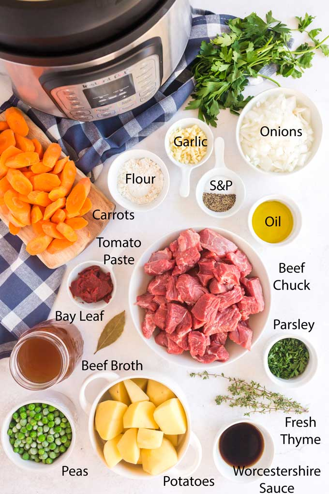 Ingredients to make Instant Pot Beef Stew