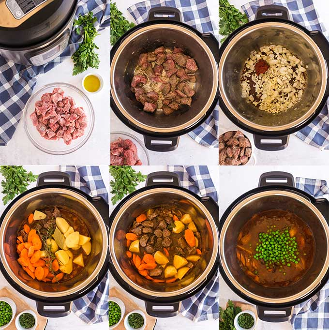 step by step images on how to make this beef stew recipe