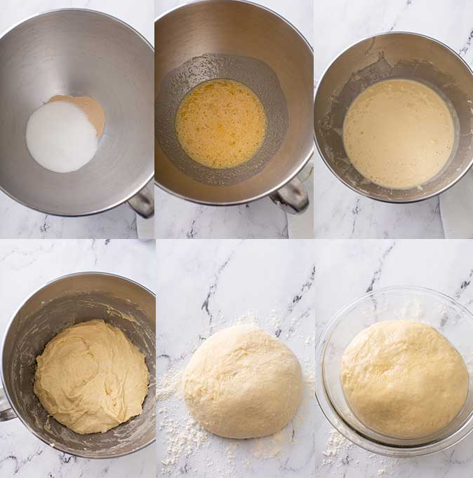 step by step images on how to make Italian Easter bread