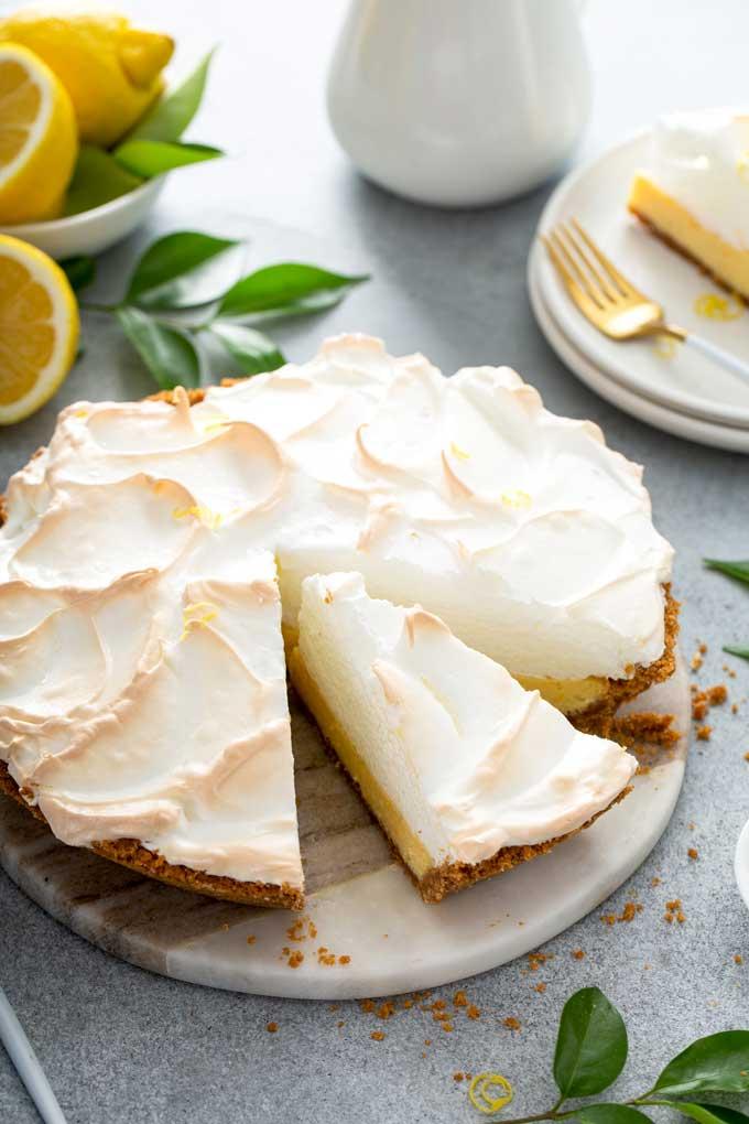 Lemon Meringue Pie cut up