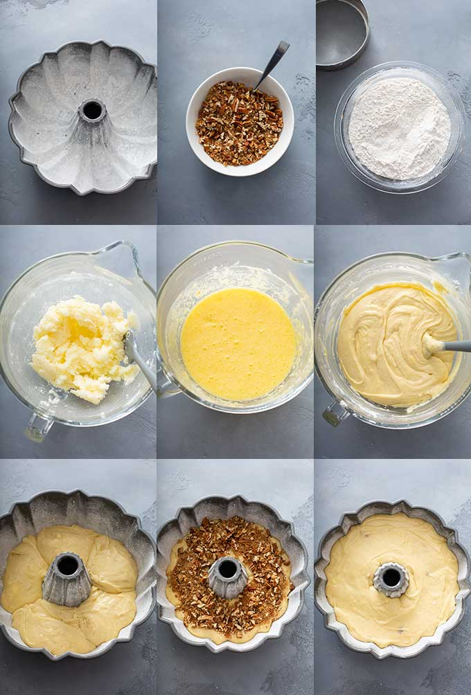 Step by step photos on how to make the  classic southern Sock It To me Cake recipe
