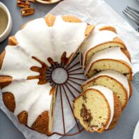 Image of sock it to me cake on a rack