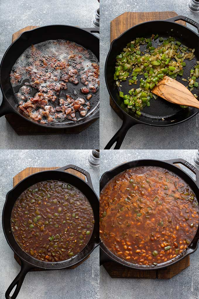 Step by step images on how to make this homemade baked bean recipe.