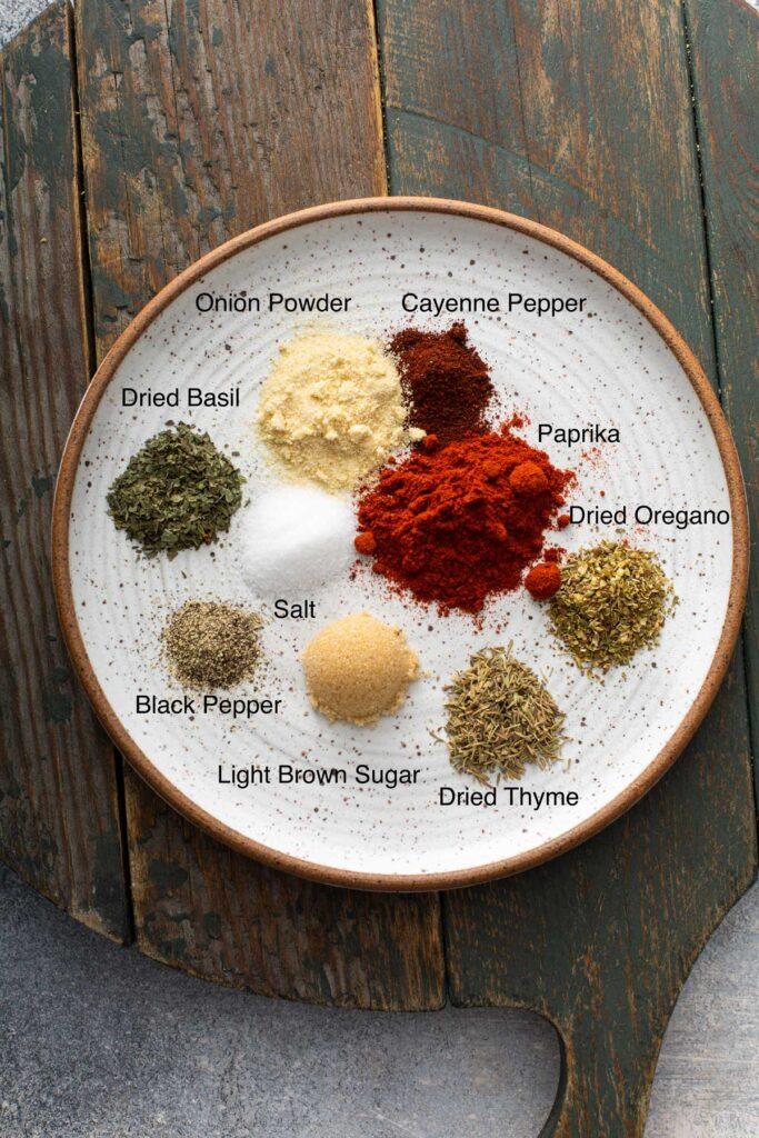 Ingredients to make Blackened Seasoning spice mix