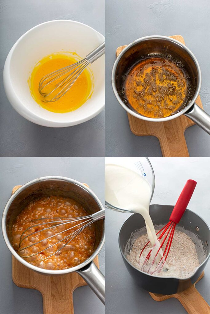 Image on how to make butterscotch pie.