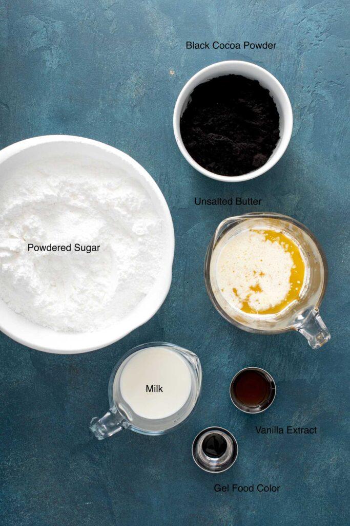 Black velvet buttercream frosting ingredients